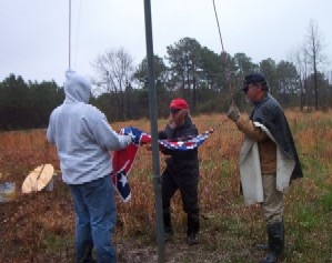 Raising the first Confederate Flag at CMP